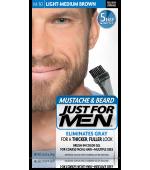 JUST FOR MEN - PER BAFFI, BARBA E BASETTE (Luce media marrone) M30